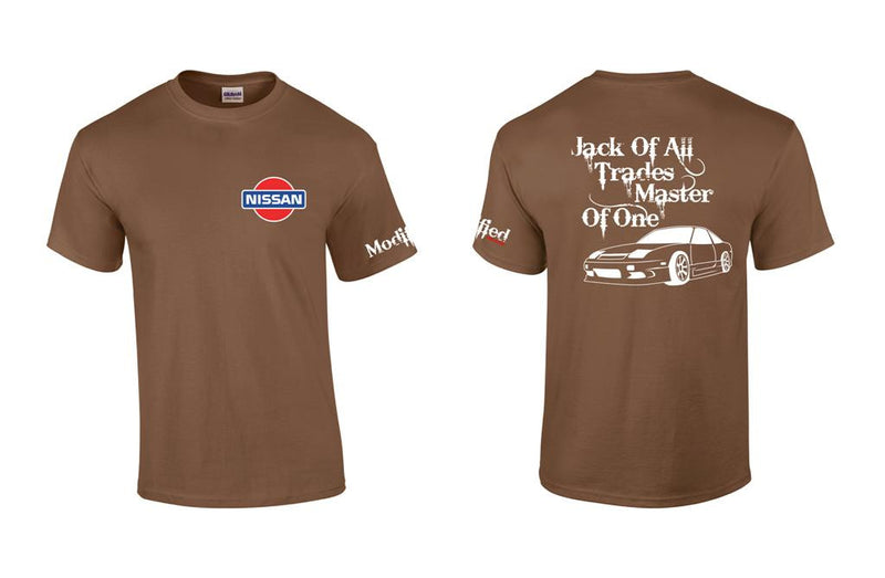 Jack of All Trades S13 Hatch with Old School Nissan Logo Shirt