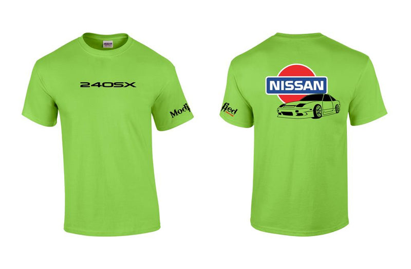 Nissan S13 Hatch with Old School Nissan Logo Shirt