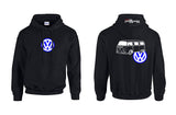 VW Bay Window Bus Logo Hoodie
