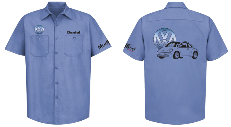 VW New Beetle Logo Mechanic's Shirt