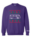 VW Bay Window Bus Ugly Christmas Sweater Sweatshirt