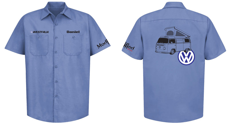 VW Bay Window Westy (Late) Mechanic's Shirt
