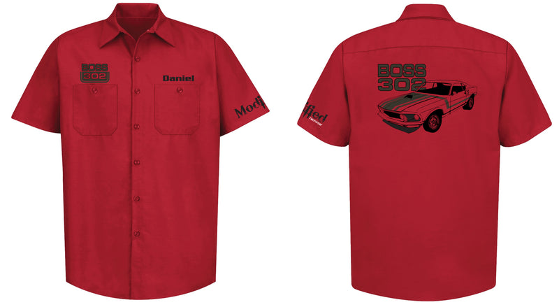 Boss 302 Mustang Logo Mechanic's Shirt