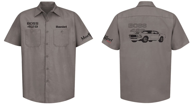 Boss 429 Mustang Logo Mechanic's Shirt