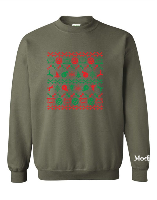 VW Bug Front/Back Ugly Christmas Sweater Sweatshirt