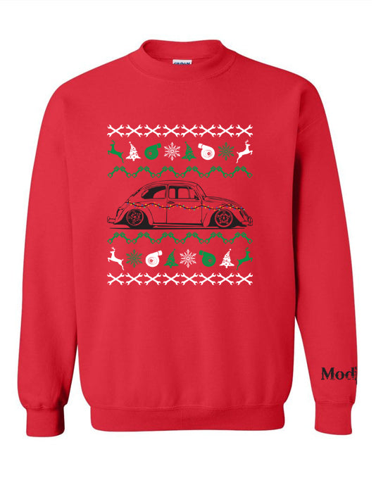 VW Bug Ugly Christmas Sweater Sweatshirt