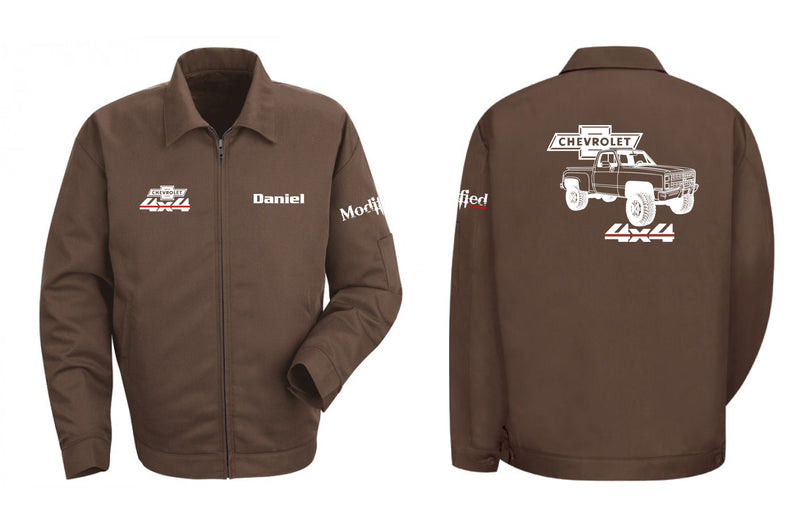 Chevy Square Body 4x4 Stepside Truck Mechanic's Jacket