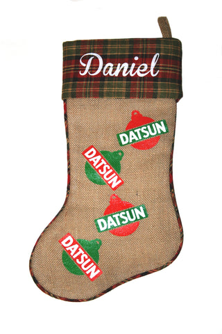 Datsun Logo Christmas Stocking