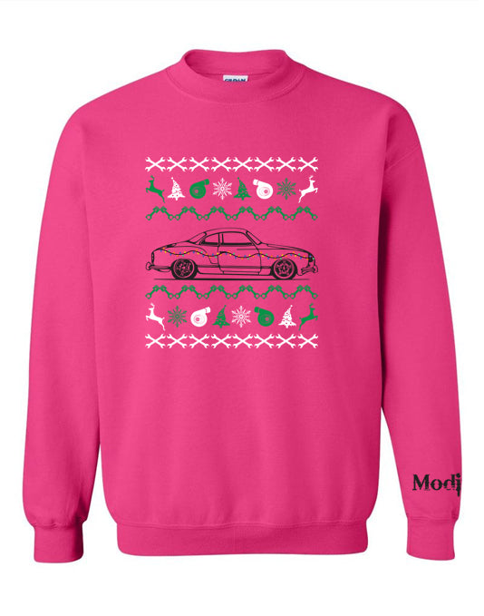 VW Karmann Ghia Ugly Christmas Sweater Sweatshirt