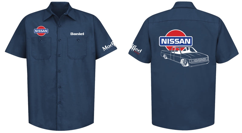 Nissan Hardbody King Cab Logo Mechanic's Shirt
