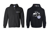 VW Bay Window Westy (Late) Full Zip Hoodie