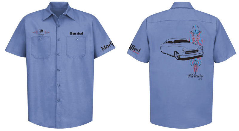 Mercury Pinstripe Mechanic's Shirt