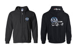VW New Beetle Vert Logo Full Zip Hoodie