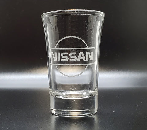 Nissan Old Logo Shot Glass