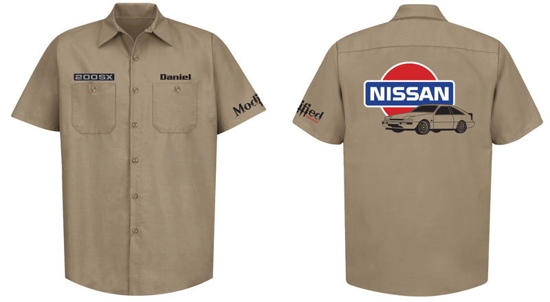 Nissan S12 MK1 Hatch Logo Mechanic's Shirt