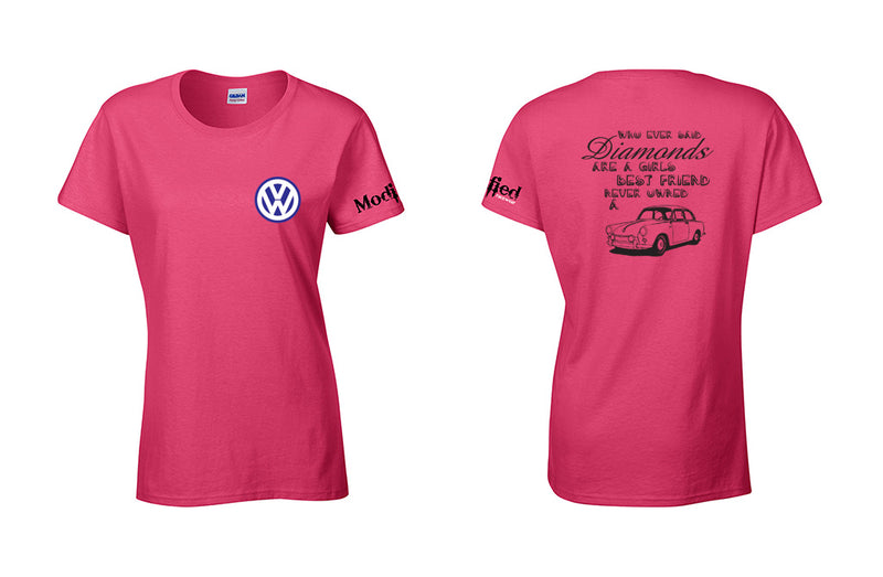 VW Notchback Diamonds Ladies Shirt