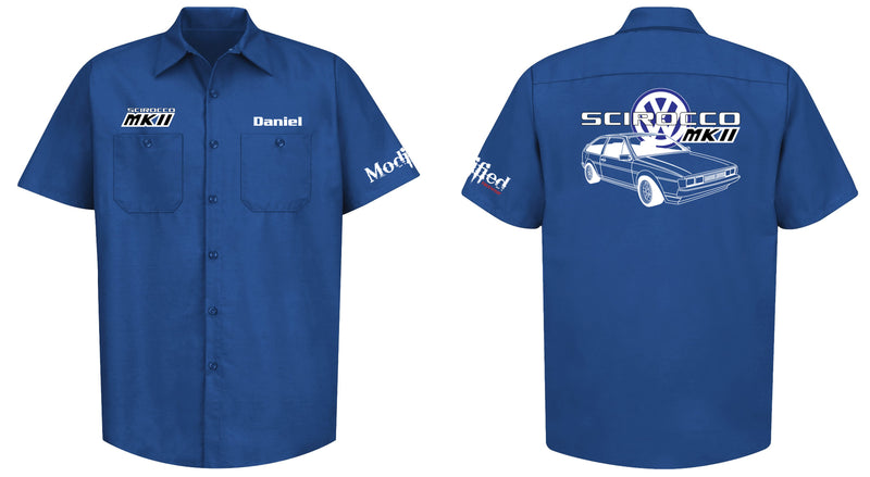 VW Scirocco MK2 Logo Mechanic's Shirt