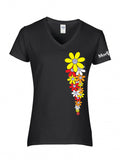 VW Daisy Ladies V-Neck Shirt