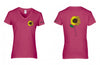 VW Sun Flower Ladies V-neck Shirt