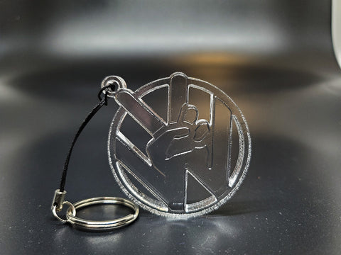 VW Peace Sign Keychain