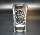 VW Peace Sign Shot Glass