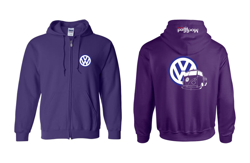 VW Single Cab Pick-up Full Zip Hoodie