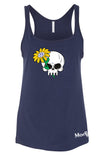 VW Skull & Daisy Ladies Tank Top