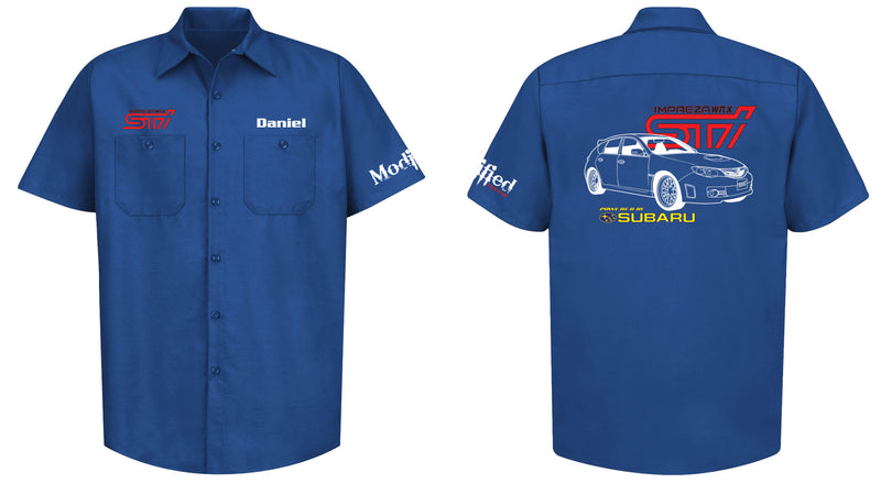 Subaru Impreza WRX STI Hatch Logo Mechanic's Shirt