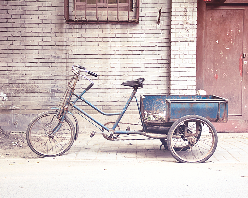 Blue Bicycle / Photography Print