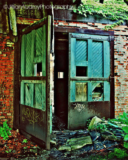 Blue Doors at the Buffalo Central Train Terminal / Photography Print