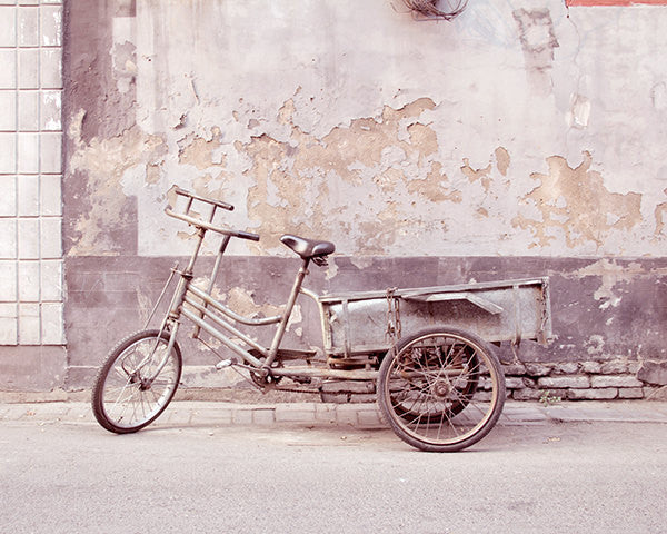 Grey Bicycle / Photography Print