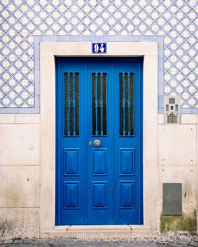 Lisbon 94 Blue Door / Photography Print