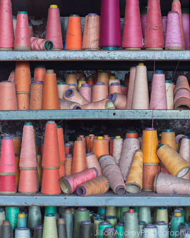 Rainbow Spools / Photography Print
