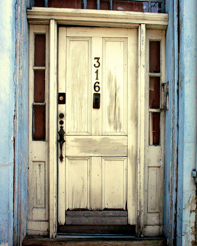 White New Orleans Door / Photography Print