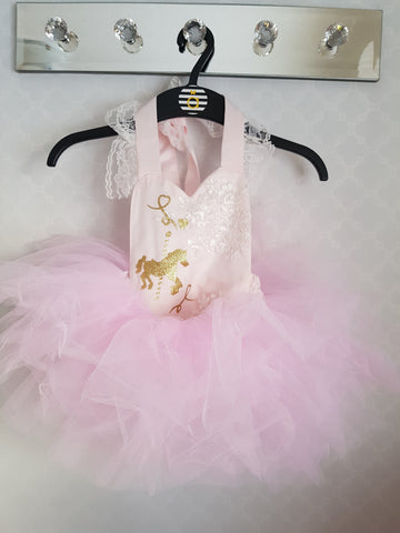 Carousel Lace Onesie and tutu