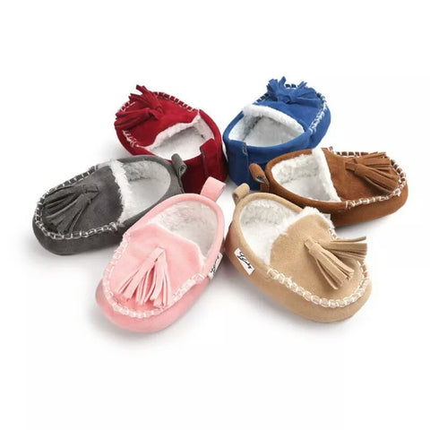 Furry Moccasins Baby Shoes
