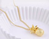 Gold 3D Pineapple Necklace