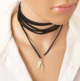 Suede leather Wrap Necklaces