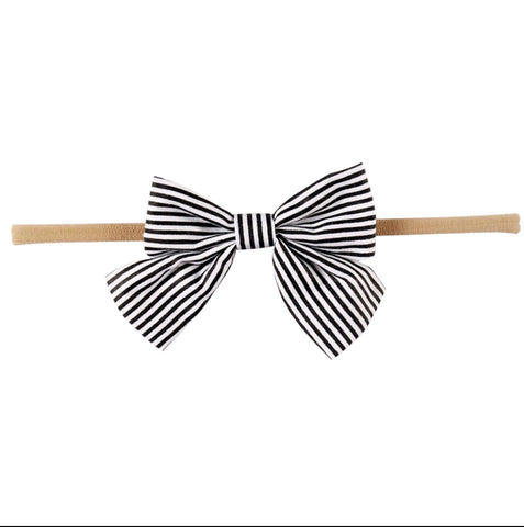 Cotton Bow rolled elastic baby headband