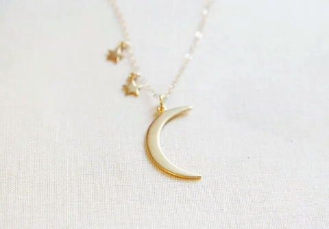 Moon & Stars gold Necklace