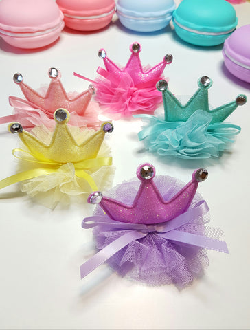 Candy 3 point Tutu Crown Clip