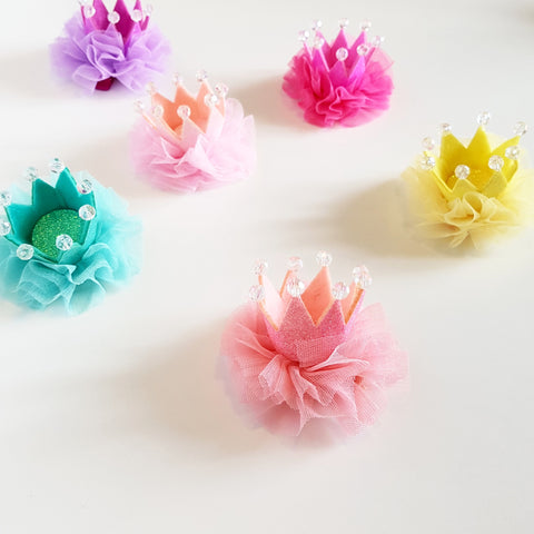 Candy Tutu Round Crown Clip