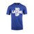 No Laying Up T-shirt | Heather Royal Blue with White Logo