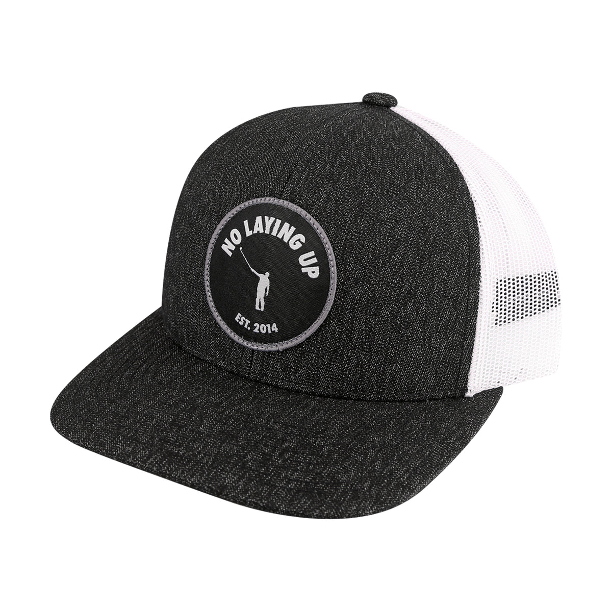 NLU Patch Hat | Mesh Snapback | Black & White