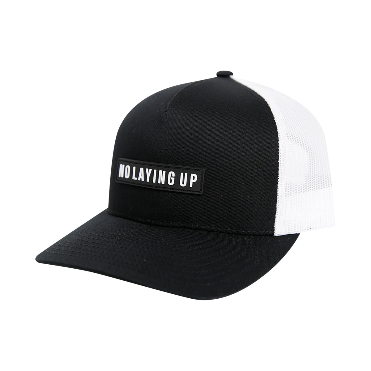 NLU Black Patch Hat | Black & White