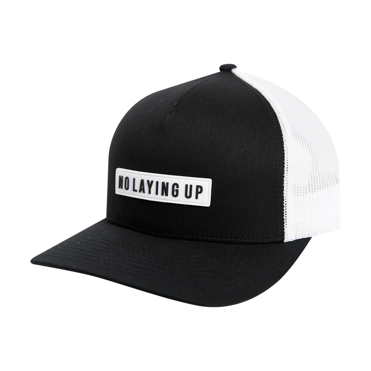 NLU White Patch Hat | Black & White Mesh