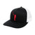 The Wayward Puff Hat | Black & White With Red Logo