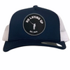 NLU Patch Hat | Mesh Snapback | Navy & White