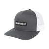 NLU Patch Hat | Charcoal & White