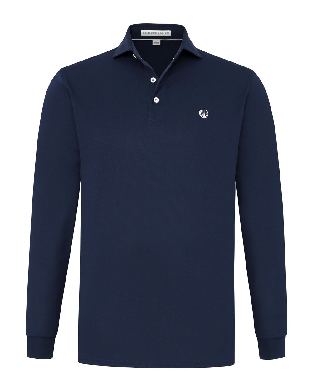 NLU + H&B Long Sleeve Polo | Navy